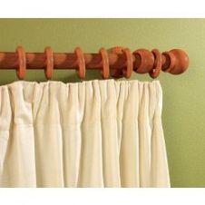 Woodside Walnut Effect Wooden Curtain Pole - 300cm, 28mm diameter