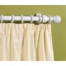 Woodside White Finish Wooden Curtain Pole - 150cm, 28mm diameter