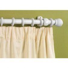 Woodside White Finish Wooden Curtain Pole - 240cm, 28mm diameter