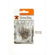 X Brass Headed Pins - Blued Shanks (Blister Pack)