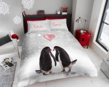 Xmas Penguin Love Duvet Sets