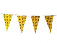 Yellow Bunting Flags w/ White Lace