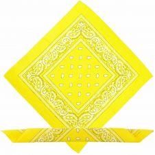 Yellow Paisley Bandana (1 Dozen)