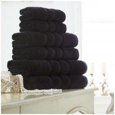 ZERO TWIST HAND TOWEL BLACK