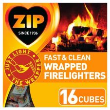Zip Fast & Clean Wrapped Firelighters - Pack 16