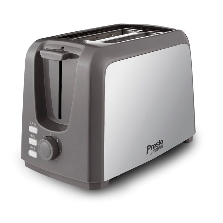 Tower Presto 2 Slice Toaster - Polished Stainless Steel
