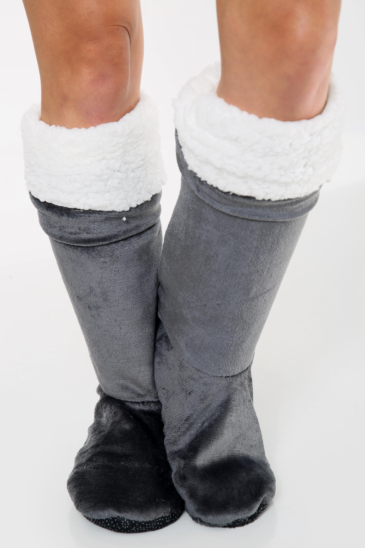 Ultra Plush Grey Long Shoes
