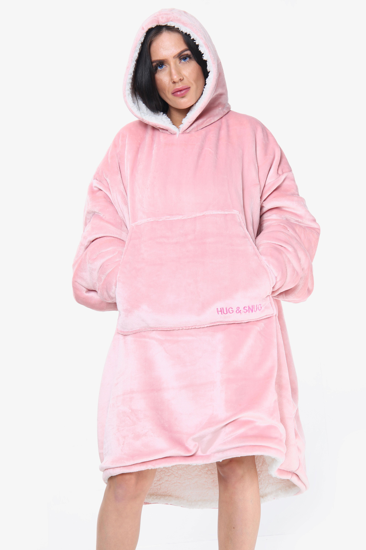 Ultra Plush Pink Blanket Hoodie
