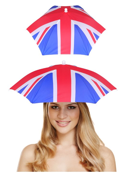 Union Jack Umbrella Hat (Adult)