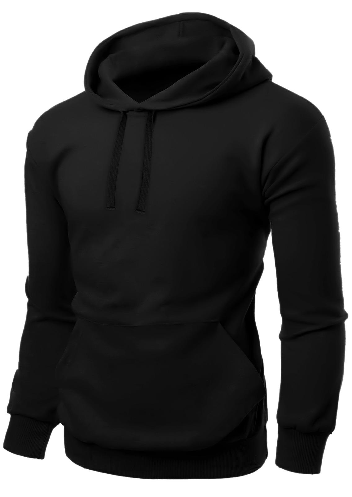 Unisex Fleece Pullover Black Hoodie