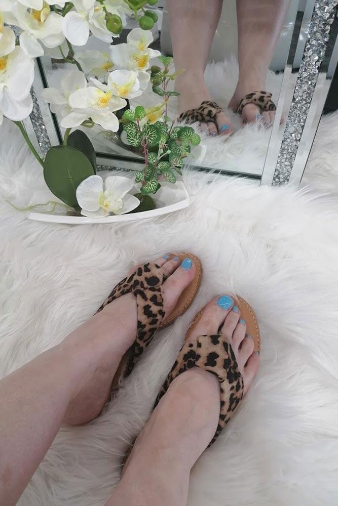 Women Leopard Pattern Slider Leopard
