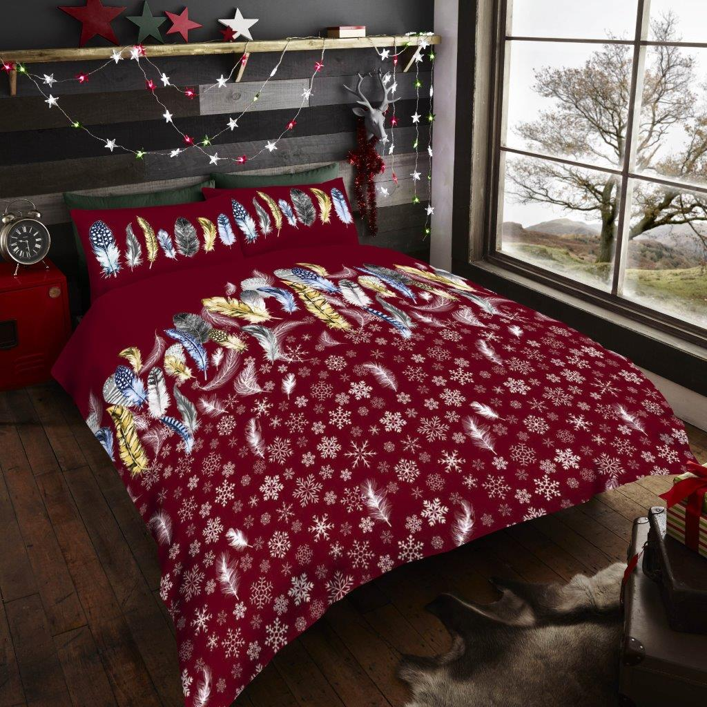 Xmas Fathers Red Duvet Sets
