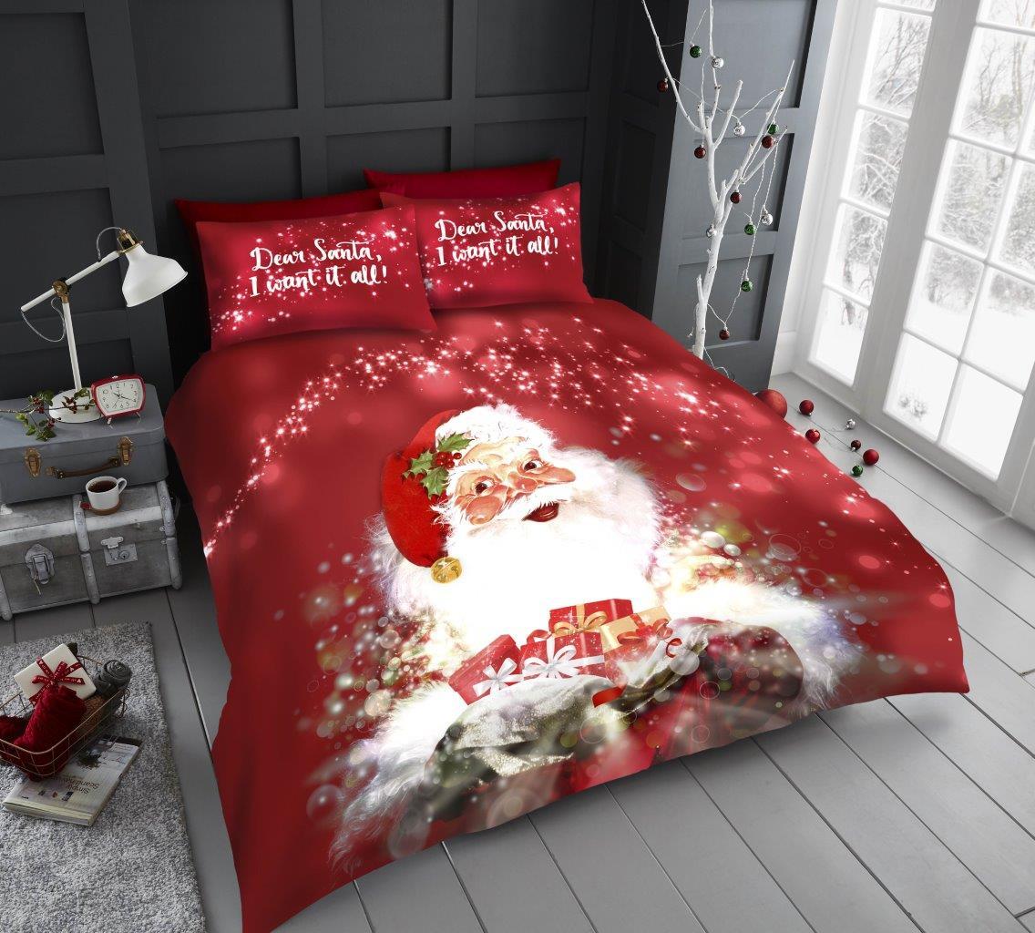 Xmas Santa with Presents Duvet Sets