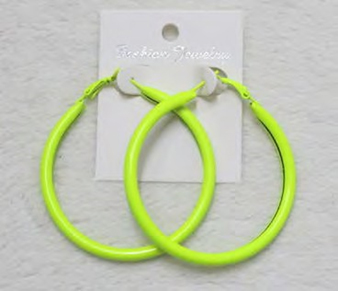 Yellow Ear Rings (Pack of 12)